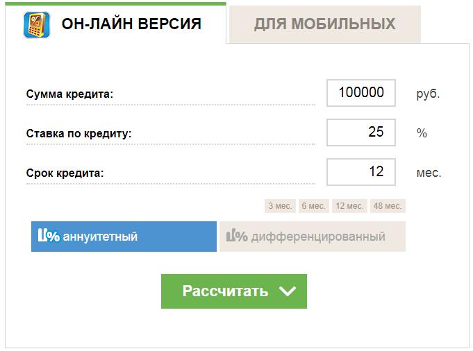 Как рассчитать кредит Совкомбанка - кредитный калькулятор