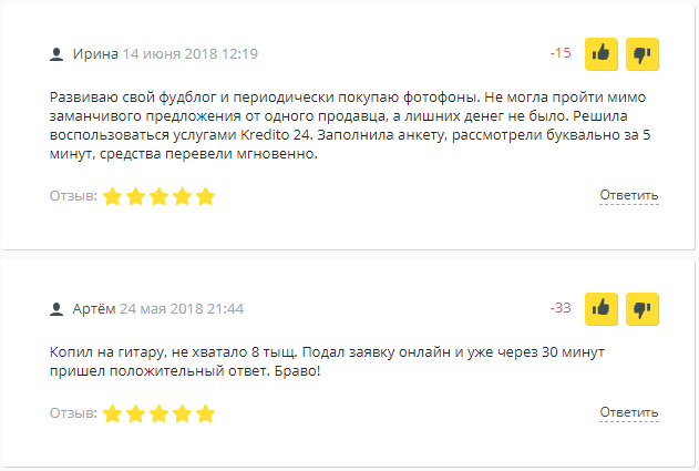 Отзывы пользователей сервиса